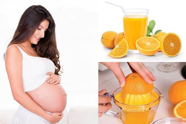Có bầu uống nước cam được không