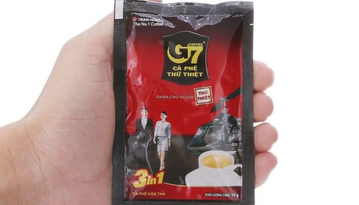 1 gói cafe g7 chứa bao nhiêu calo