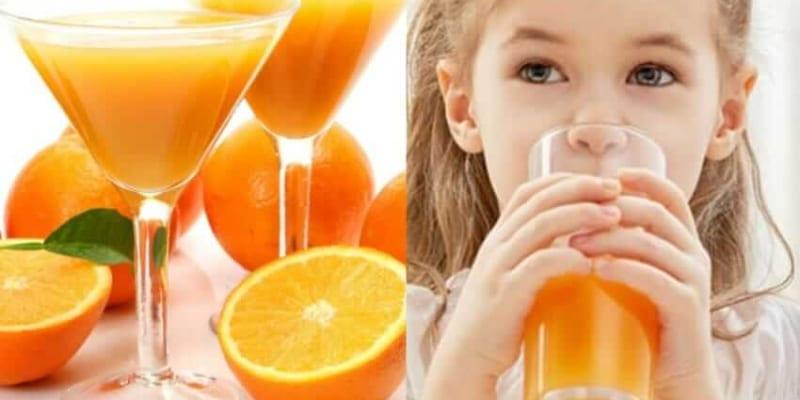 Bé 6,7 tháng hoặc dưới 1 tuổi uống nước cam được chưa