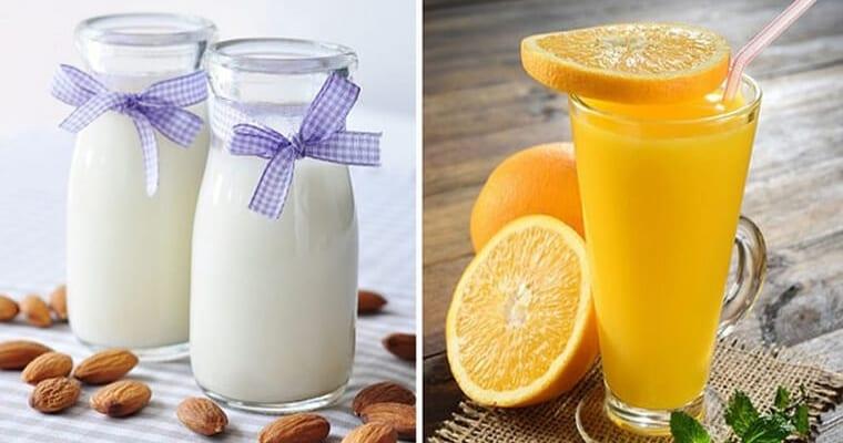 Uống nước cam cách uống sữa bao lâu
