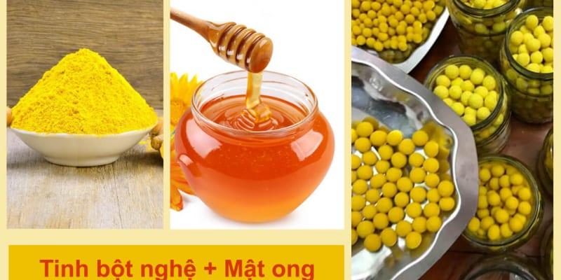 Nghệ mật ong trị trào ngược dạ dày