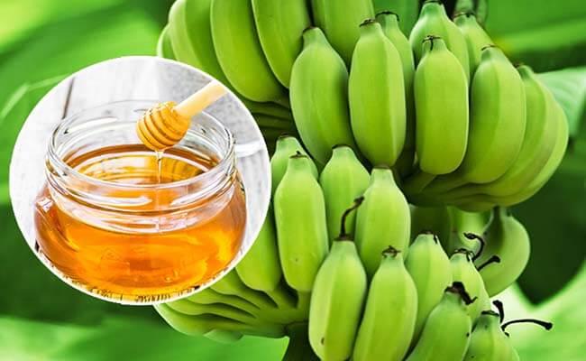 Chữa đau dạ dày với chuối tiêu xanh và mật ong