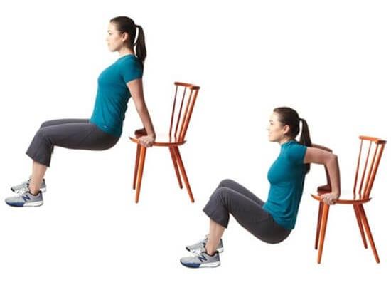 Tập thể dục với ghế