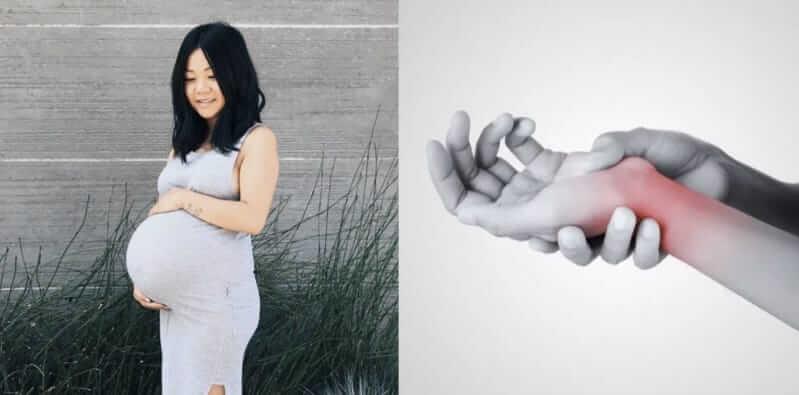 Tê tay trong thời kì thai kì là do đâu?