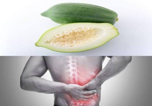 Cách chữa đau lưng bằng đu đủ