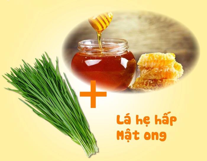 Lá hẹ và mật ong chữa ho có đờm hiệu quả